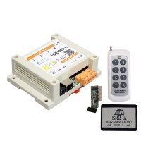 4-channel Network Relay Switch with 8-channel 300m Remote Controller and Surge Suppressors