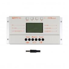 Solar Panel Regulator LCD 30A 12V/24V MPPT Charge Controller Regulator