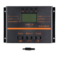 Y-SOLAR 60A LCD PWM Solar Panel Charge Controller Battery Regulator 12V/24V Auto