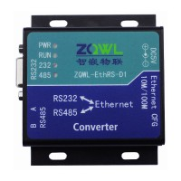 ZQWL-EthRS-D1 Modbus Converter TCP to RTU RS232\RS485 Dual Serial Port to Network Ethernet CFG
