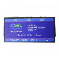 ZQWL_EthRS_E6 6 Ports Serial Device Server Module 32Bit RS232/RS485/RS422 Switch