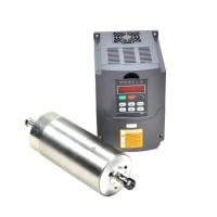 CNC 80MM ER11 1.5KW Water Cooled Motor Spindle and Drive Inverter VFD