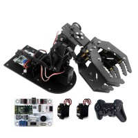 4DOF Robot Servos Mechanical Arm with 6-channel Control Board and PS2 Handle