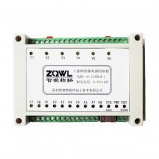 ZQWL-IO-1CNRC8-I 8-channel Network Relay Control Board RS485/Modbus TCP/RTU Isolation