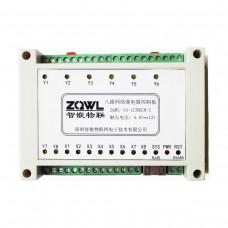 ZQWL-IO-1CNRC8-I 8-channel Network Relay Control Board RS485/Modbus TCP/RTU Isolation