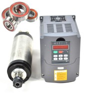 3KW Water-cooled Spindle Motor and 3KW Matching Inverter Four Bearing 24000RPM