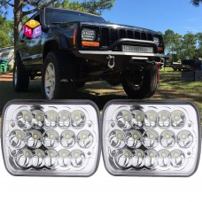2PC 5X7 7X6 Sealed Beam LED Headlight Replacement for Jeep Cherokee XJ Trucks