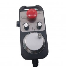 Universal 5V 100PPR CNC 4 Axis MPG Pendant Handwheel and Emergency Stop F/ Siemens