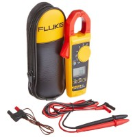 Fluke 325 40/400A AC/DC 600V AC/DC TRMS Clamp Meter w/ Frequency Temp Measurements