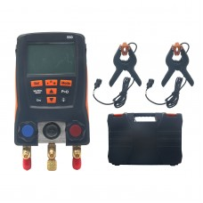 Refrigeration Digital Manifold Meter Kit for Testo 550 0563 1550 with 2PCS Clamp Probes