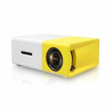 YG-300 Lumi Mini USB LED HDMI Projector Portable Media Player with Power Adapter