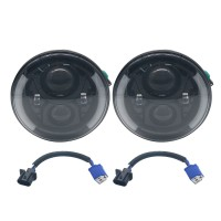 "2PCS 7"" LED Headlight Hi/Low Beam Angel Eye DRL For JEEP Wrangler JK TJ 97-17 GW"