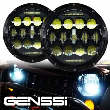 "2PCS 7 Inch 75W 7"" LED Headlight H4 H13 DRL High Low Beam for JEEP JK Wrangler"