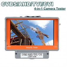 "4 in 1 Wrist 5"" CVBS/AHD/TVI/CVI CCTV Camera Test Display Monitor Tester Audio Kit"