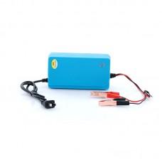 12V 6A Car Minibus Intelligent Battery Charger 20-60AH Repair 50-60Hz Blue Green