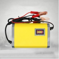 12V 6A Car Motorcycle Intelligent Repair Battery Charger Automatical Yellow