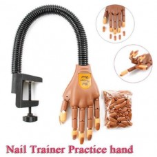 Flexible Artificial Nail Practice Trainer Manicure Hand 100PCS Nail Tips