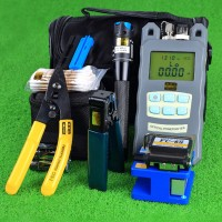 10pcs/set Fiber Optic FTTH Tool Kit FC-6S Fiber Cleaver Optical Power Meter VFL