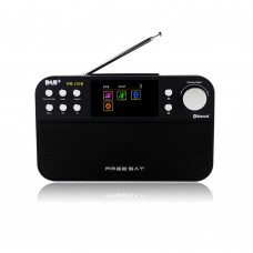 "Freesat DR-103b Portable Digital Radio Receiver 2.4"" LCD Color Display Receptor Support DAB+/FM/+BT"