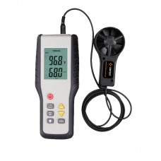 HT-9819 CFM/CMM Thermo Anemometer Digital Wind Speed Gauge Air Velocity Flow Tester Meter