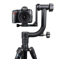 "Panoramic 360 Degree Gimbal Tripod Head 1/4"" 3/8"" Screw for Nikon Canon DSLR Camera Telephoto Lens"