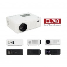 CL740 LCD LED Home Mini Theater Projector 2400 Lumens HD 840x480 1080P
