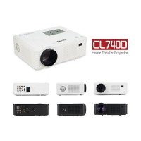 CL740D LCD LED Home Mini Theater Projector 2400 Lumens HD 840x480 1080P
