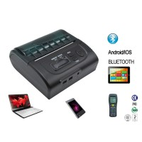 POS8002 8002DD 80mm Thermal Portable Bluetooth Receipt Printer 90mm/S Android + ISO System