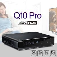 "Q10 Pro 4K HDR Media Player HDR 2G/16G TV BOX WIFI 1000M 3.5"" SATA HDD Bluetooth Set Top Box"