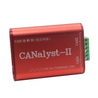 CAN Analyzer CANOpen J1939 DeviceNet USBCAN-2 USB to CAN Adapter Compatible with ZLG Red