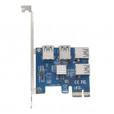 1 X 4 Slots PCI-E 1 to 4 PCI Express 16X Slot External Riser Card Adapter Board
