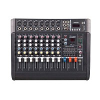 250Wx2 8 Channel Professional  Mixing Amplifier Amp Powered Mixer Power Audio