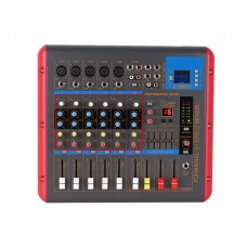 6 Channel Bluetooth Professional Mixing Amplifier Amp Audio Powered Mixer Power PMR706