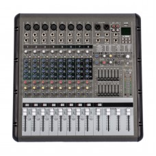 PMR860 8 Channel MIC/LINE Professional Powered Stage Mixer Power Mixing Amplifier Amp
