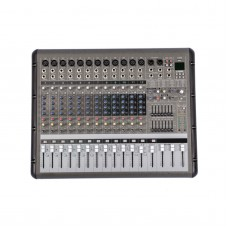 PMR1260 12 Channel 7 Band Bluetooth Professional Powered Stage Mixer Power Mixing Amplifier Amp