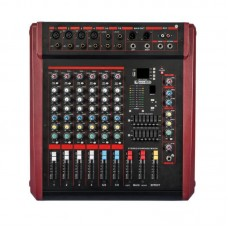 MAX800 8 Channel USB Professional Powered Mixer Power Stage Mixing Amplifier Amp
