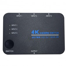 4Kx2K HDMI 1.4 Switch Ultra HD 3 in 1 out 3D TV with IR for HD TV