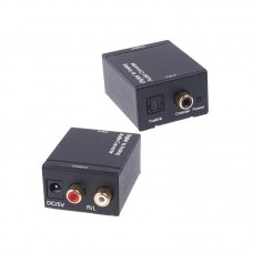 Digital to Analog Audio Converter L/R Toslink RCA for Audio Switching