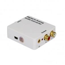 White Digital to Analog Audio Converter Headphone Port for Audio Switching