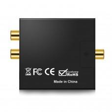 Black Digital to Analog Audio Converter Headphone Port for Audio Switching