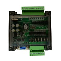 PLC Industrial Control Board FX1N 14MT 2 Channel 100K Pulse Output with Shell