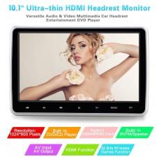 """HDMI 10"""" HD Digital LCD Screen Car Headrest Monitor DVD/USB/SD Player IR/FM MJM-P1018D"""