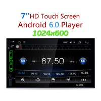 """Car FM/AM Radio Android MP5 Player GPS Navigation WiFi Rear View Reverse 1024x600 7"""" Touch Screen"""