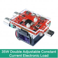35W Double Adjustable USB Electronic Constant Current Load Power Discharge Tester LCD Display