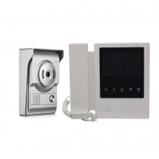 4.3 Inch Video Door Phone Intercom System Touch Screen Video Phone with Dual Way Intercom