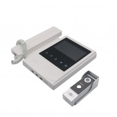 Wired Handset Video Doorbell 4.3 Inch High Definition Color Screen Touch Button and Acrylic Panel Camera
