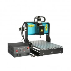 300W Parallel Port 3 Axis Sculpture Wood Carving CNC Router Machine