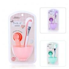 Beauty Makeup 6 in 1 Homemade Facial Face Mask Mixing Bowl Brush Spoon Set Kit