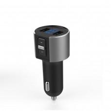 Car MP3 Player Bluetooth Handsfree Kit FM Transmitter Receiver Dual USB Charging Battery