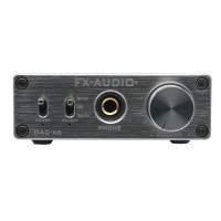 DAC-X6 HiFi Amp USB 24Bit 192Khz Fiber Coaxial Headphone Audio Amplifier DAC Decoder-Silver Panel